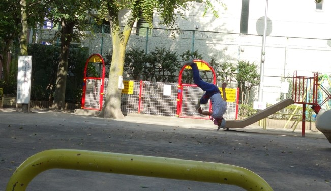 capoeira upsidedown