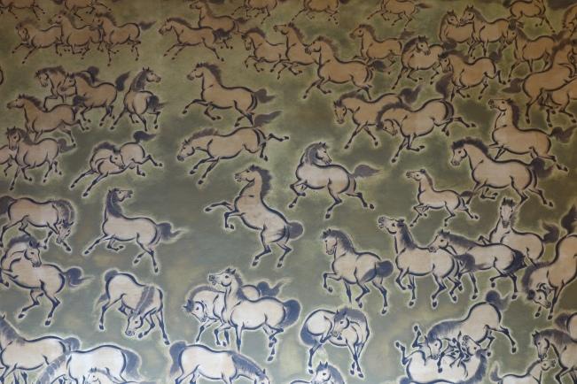horses frolic detail