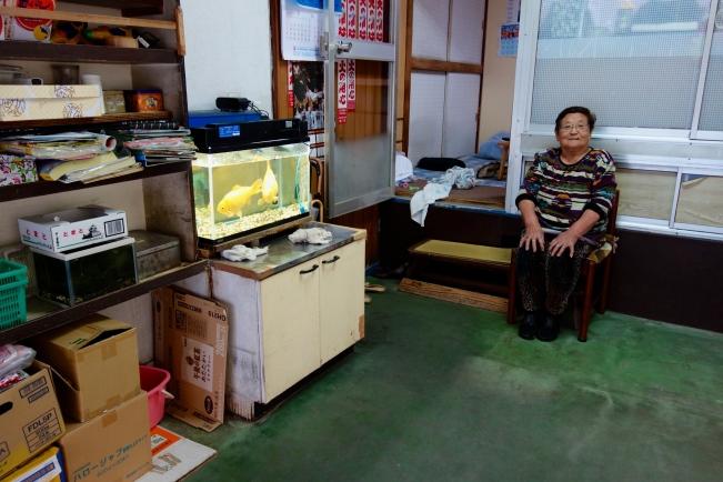 Sasaki end seated goldfish